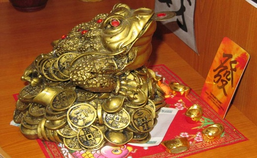 Талисман Жаба с монеткой