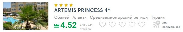 artemis princess отзывы