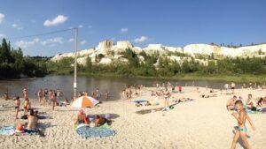 пляж белый колодец